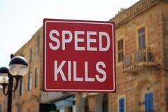 Mises à mort de vitesse Images stock