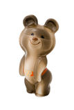 Misha, the Moscow Olympic Games mascot. Ceramic figurine of Misha the Bear  carried the full name Mikhail Potapych Toptygin, mascot of the 1980 Olympic Summer Royalty Free Stock Image