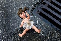 Mishandeling en misbruik van kinderen Royalty-vrije Stock Foto