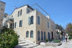 Mishkenot Shaananim在耶路撒冷,以色列 图库摄影