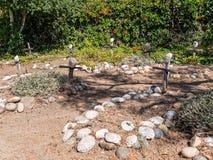 Misión Carmel, cementerio fotos de archivo