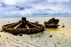 Misión de la isla de Kiribati en el verano de 2016 Imágenes de archivo libres de regalías