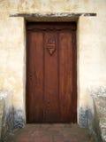 Misión de madera de Carmel de la puerta Imagenes de archivo