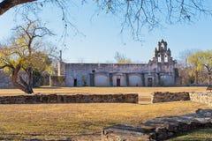 Misión española histórica San Juan Capistrano en San Antonio, Tex imagen de archivo