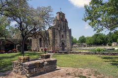 Misión Espada, San Juan Mission National Park Fotografía de archivo libre de regalías