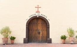 Misión Santa Ines Door Imagen de archivo libre de regalías
