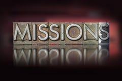 Misi Letterpress Zdjęcia Stock