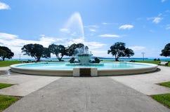 Misi Podpalana fontanna Obrazy Royalty Free