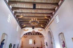 Misi san luis Obispo de Tolosa Kalifornia Drewniany sufit Zdjęcie Royalty Free