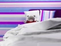 Misia jn łóżko ilustracji