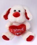 Misia pluszowego pies kocham ciebie Obraz Royalty Free