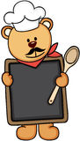 Misia szefa kuchni menu ilustracji