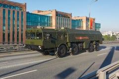 Misil balístico de corto alcance móvil Iskander Imagen de archivo libre de regalías