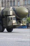 Misil balístico intercontinental nuclear móvil Imágenes de archivo libres de regalías