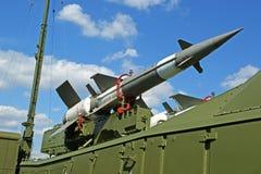 Misiles antiaéreos rusos modernos 5V27DE Fotos de archivo