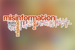 Misinformation word cloud with abstract background Royalty Free Stock Photos