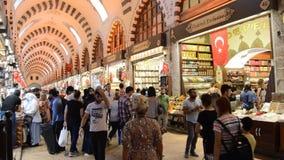 Misir Carsisi Eminonu Ä°stanbul Turkije stock videobeelden