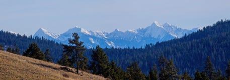 Misj góry jak widzieć od wieprza nieba obraz stock