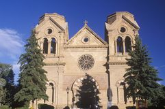 Misja budynek w w centrum Santa Fe Nowym - Mexico zdjęcia royalty free