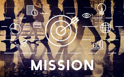 Misja celów celu dążenia pojęcie Obrazy Stock