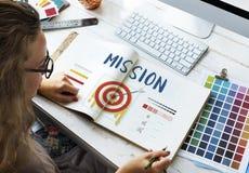 Misja celu Strzałkowatych celów strzałki grafiki Biznesowy pojęcie Zdjęcie Stock