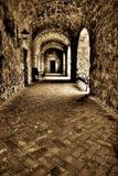 Misja Concepcion Na zewnątrz korytarza Zdjęcie Stock