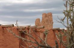 Misja wśród kaktusa, Abo osada, Nowa - Mexico zdjęcie royalty free