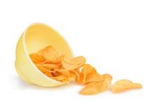 miska chip ziemniaka obraz stock