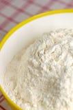 miska mąki żółty Obraz Royalty Free