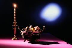 miska świece jaj Zdjęcia Royalty Free