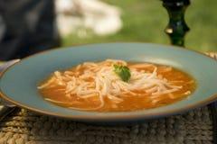 miska zupy pomidora Zdjęcia Stock