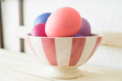 miski Wielkanoc jaj Obraz Stock