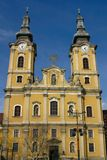 Miskolc church. A church and at the Heroes Square in Miskolc, Hungary, Central Europe Stock Photos