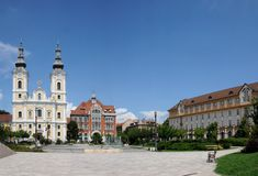 Miskolc Heroes square Royalty Free Stock Image
