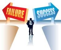 Mislukking of Succes Stock Afbeelding