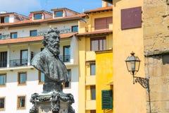 Mislukking van Benvenuto Cellini op Ponte Vecchio Stock Foto