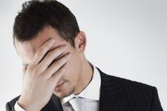 Mislukking van een jonge zakenman Stock Afbeeldingen