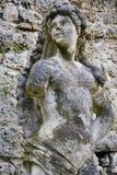 Mislukking van een marmeren vrouwelijk standbeeld in Conegliano, Veneto, Italië Royalty-vrije Stock Afbeeldingen