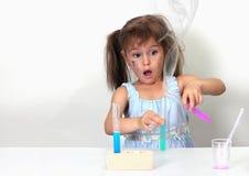 mislyckat chemical experiment Arkivbild
