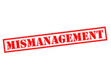 MISMANAGEMENT. Red Rubber Stamp over a white background Stock Photography