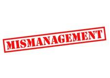 MISMANAGEMENT Stock Photography