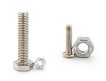 Mismatch bolt and nut Stock Photos