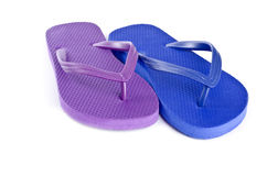 Mismatched Colorful Flip Flops #3. Mismatched Colorful Flip Flops isolated on white #3 stock photos