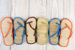 Mismatched Flip Flops Royalty Free Stock Photography