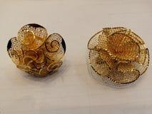 Mismo anillo del fanger de la muestra del oro imagen de archivo