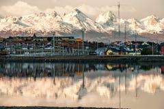 Mismo madrugada en Ushuaia, Tierra del Fuego, Patagonia Imagen de archivo libre de regalías