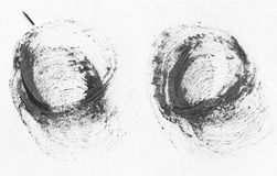 MISMO resolución de la ALTURA Banderas realistas de los movimientos del círculo handdrawn negro del aceite ilustración del vector