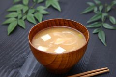 Miso σούπα στοκ φωτογραφία