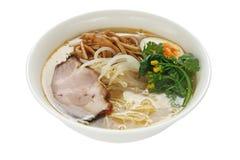 Miso de Noedels van Ramen, Japans Voedsel stock afbeelding
