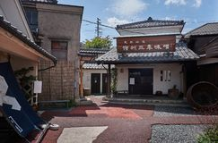 Miso factory, Japan, August 2017. Traditional Soybean paste factory, Matsumoto city, Japan August 2017 Stock Photos